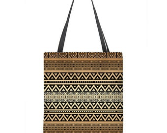 Tribal tote bag, Boho tote bag, brown bag, bohemian tote bag, large tote, gift for her, stylish bag, washable
