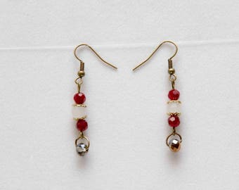 Holiday sparkle bronze dangle earrings