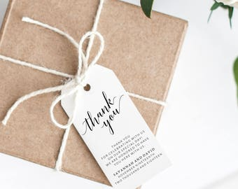 Thank You Tags Wedding, Thank You Tags Printable, Wedding Thank You Tags, Printable Thank You Tags, Thank You Tags Bridal Shower