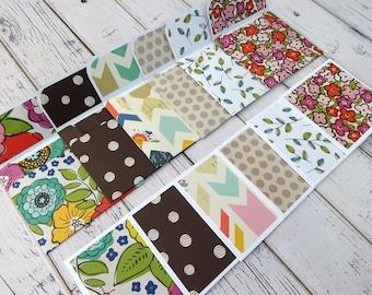 Mini Note Cards, Mini Note Card Set, 3x3 Note Cards, Mini Envelopes, Set of 6 Mini Note Cards with Envelopes, Mini Cards, Bold Blossoms