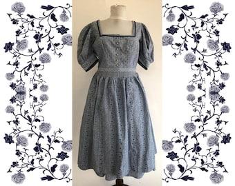 """Vintage """"Kruger"""" Dirndl Dress with Apron"""