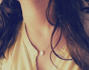 White Opal Hamsa Necklace, Gold filld Necklace, White Hamsa Necklace, Opal Hand Necklace,14k Gold filled, White Opal Hamsa,Hamsa Necklace