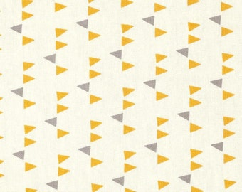 Changing Pad Cover | Yellow and Gray Triangles