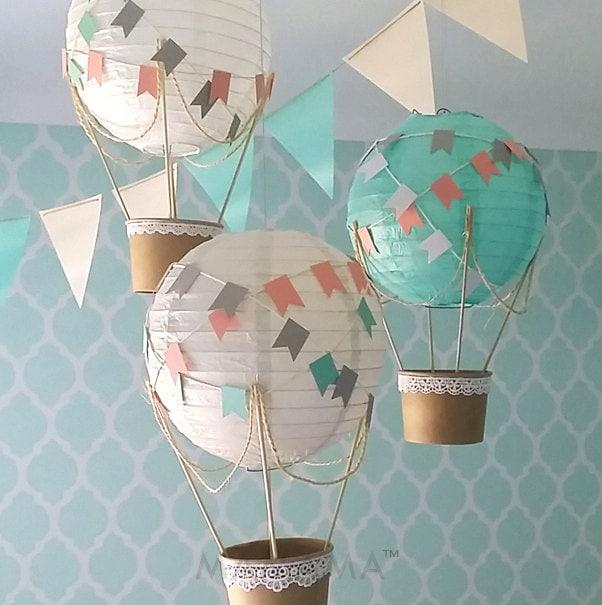 Whimsical hot air balloon decoration diy kit