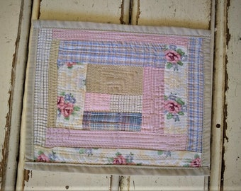 Mini Quilt. Table Mat. Mug Rug. Coaster. HandMade By PriganArt