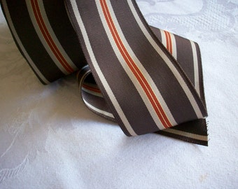 Vintage striped millinery ribbon