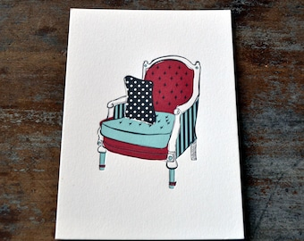Couch Print Red