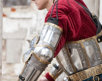 """22% DISCOUNT! Armor Arms """"The King's Guard""""; Medieval Armor; Armour"""