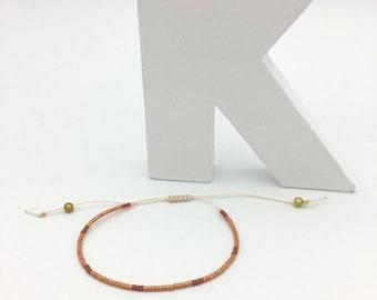 Bracelet MINI Sienna, beige and gold no. 5