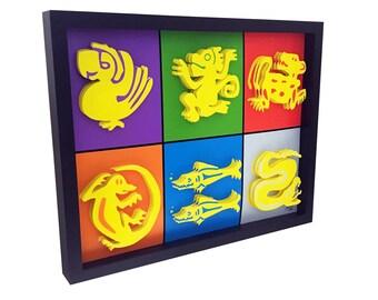 Legends of the Hidden Temple Nickelodeon Art 3D Art Nickelodeon Studios Nickelodeon Print Nickelodeon Vintage Artwork Nickelodeon show