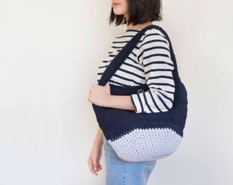 Large Crochet Pod Bag