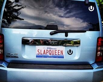 Ultra Vinyl Decal - SLAPQUEEN.COM Holographic Bumper Sticker EDM Festival