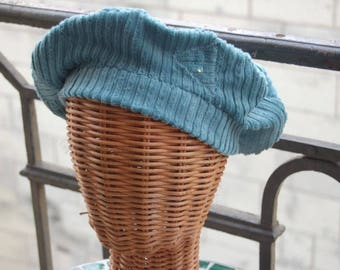 Reduction in blue velvet Beret frosted glossy