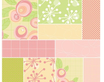 50% OFF SALE! Instant Download -Whimsy Flowers: Digital Paper Pack