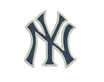 6 sizes - New York Yankees Embroidery Design, NY Yankees Design, Baseball Embroidery Design, Instant Download, New York Machine Embroidery