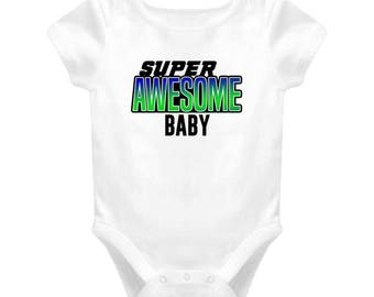 Super Awesome Birthday T-shirt Baby One Piece