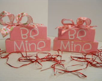 Valentine Word Block Stacker, Small, Be Mine, STLOFG