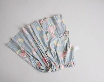 country rose floral dress  | blue floral sundress | criss cross strap dress