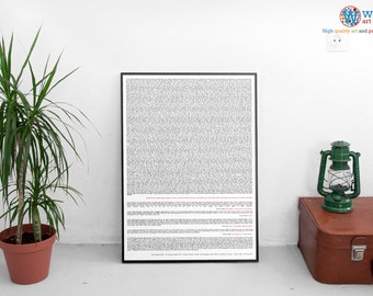 Sully Miracle on the Hudson - Transcript poster / art / print - Flight 1549 Full transcript.