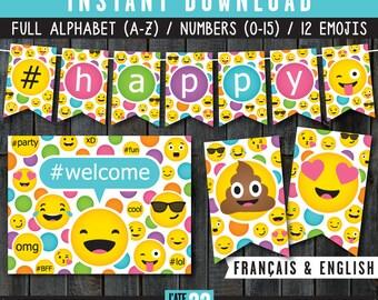 EMOJI Banner & Welcome Sign