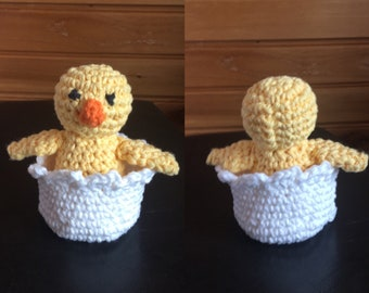Mini Crocheted Chick and Egg