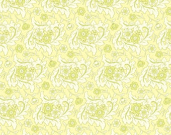 Heather Bailey Freshcut Finery Cream Flannel Fabric, 1 Yard