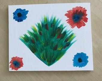 Leaves and Flowers Print