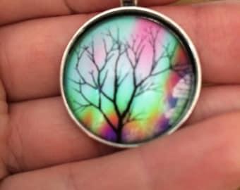 Tree cabochon pendant