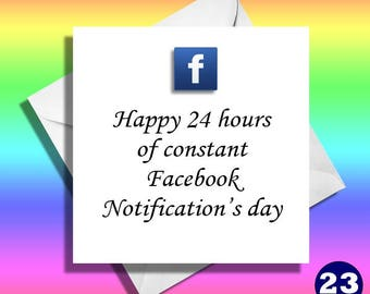 Facebook Notifications card,really funny greeting cards.Brother,Sister,cousin,Uncle,funny cards,funny birthday cards,funny,hilarious