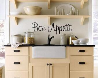 Bon Appetit (Kitchen) Custom Vinyl Wall Decal-Kitchen Wall Decal-Wall lettering-Wall Words-Vinyl Wall Decal