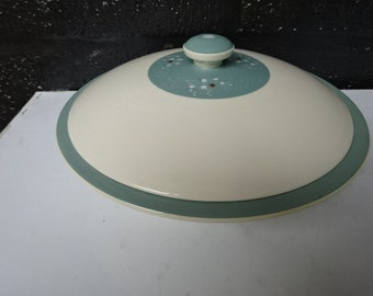 """Royal Doulton """"Spindrift"""" Lidded Tureen / Tureen / Green and White / Serveware / Tableware / Replacement / Vintage / Retro / 1950s"""