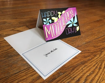 Mother's Day greeting card - original illustration