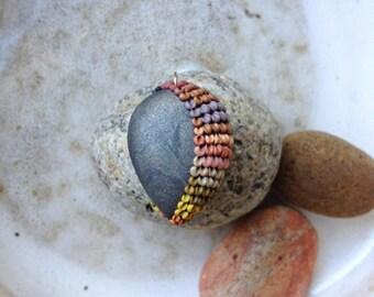 desert rain - tribal embroidery inspired pendant