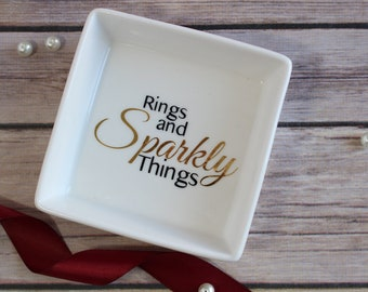 Rings and Sparkly Things Jewlery Dish, Ring Dish