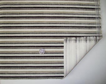 Sumatra Stripe Cream Dove chenille stripe upholstery fabric by NEXT