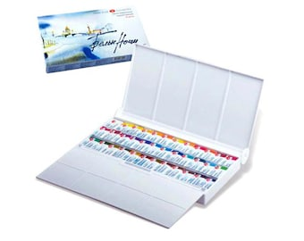 36 Watercolor Paint Set WHITE NIGHTS Professional Palette Full Pans 2.5 ml Saint Petersburg Russian Watercolors