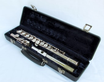 Artley Flute with Case - Vintage Silver Plated Musical Instrument - Made in USA