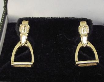 Stirrup Earrings 14Kt Gold