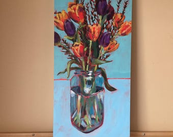 Song of Spring, (12x24), original painting