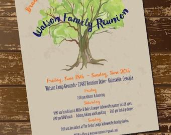 family reunion invitation family reunion flyer printable