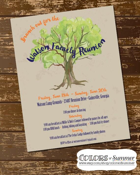 Family Reunion Invitation Family Reunion Flyer Family Tree