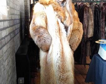 Real Red Fox Fur Coat