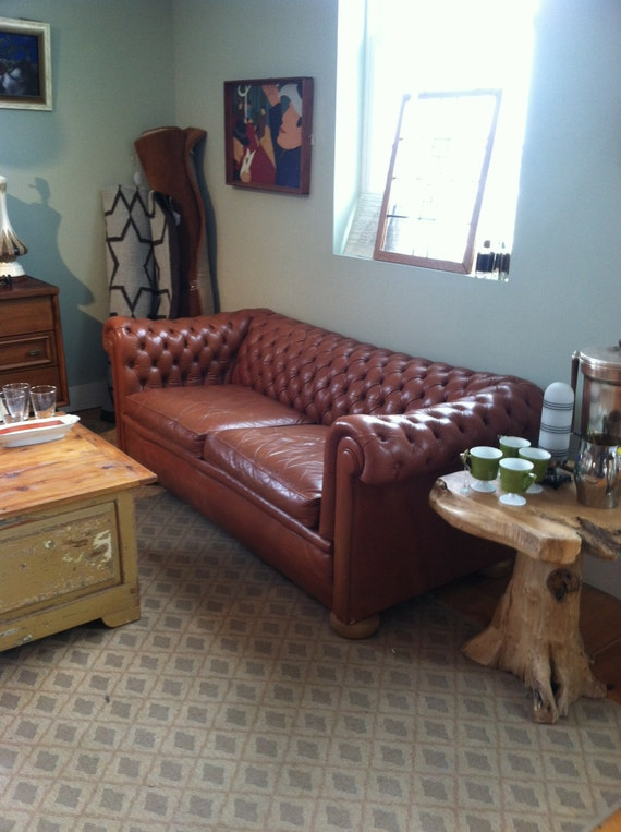 LEATHER CHESTERFIELD SOFAS Distressed Love Seats Leather