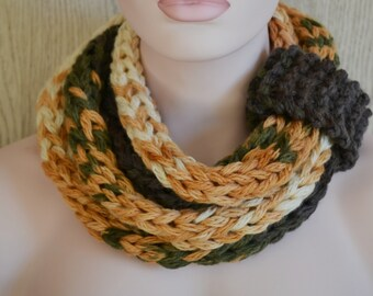 Knitted Super Chunky Rope Neckwarmer