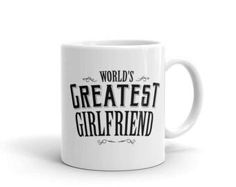 World's Greatest Girlfriend Coffee Mug, anniversary gifts, mug girlfriend, couple mug, perfect girlfriend, lesbian mug, girlfriend gift