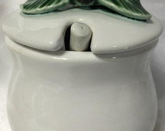 Blackberry Ceramic Lidded Jar Bentson-West Designs Made in Portugal.
