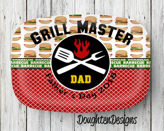 A personalized BBQ tray--the dad-of-the-year gift for 2018 for sure!