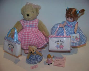 Wendy and Muffy Madame Alexander complete set special Limited Edition doll club