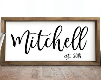 Family Name Sign Personalized Family Name Sign  Personalized Wedding Gift,Family Name Wall Decor Last Name Sign Custom SIgn