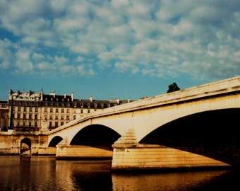 Under the Siene River - Paris, France 16 X 20 Photo mounted on canvas